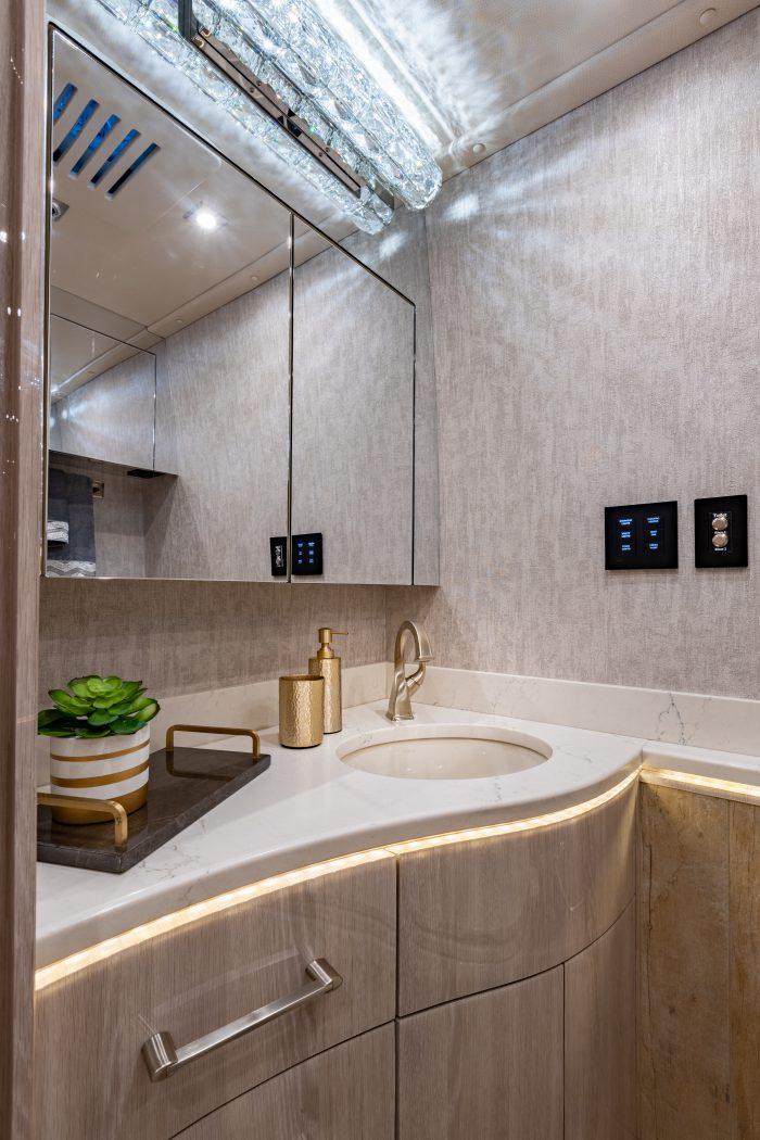 2021 Millennium H3-45 Stock #10161 - Bathroom