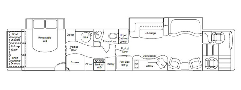 Double Mid-Bath Floorplan