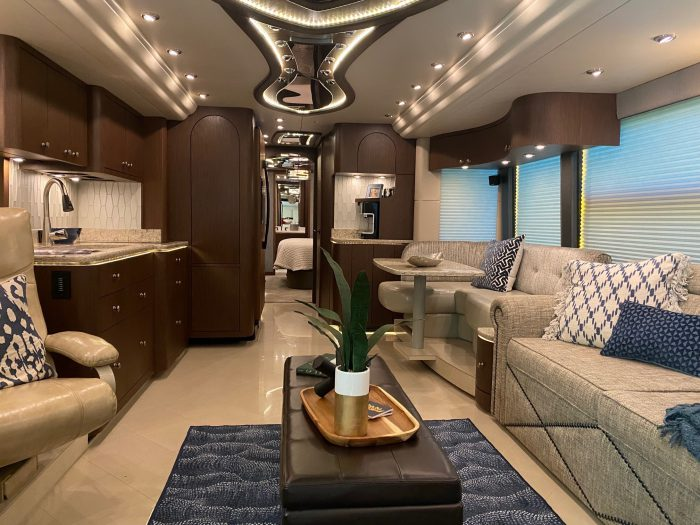 2017 Millennium H3-45 Stock #: 721 - Internal view from front to back