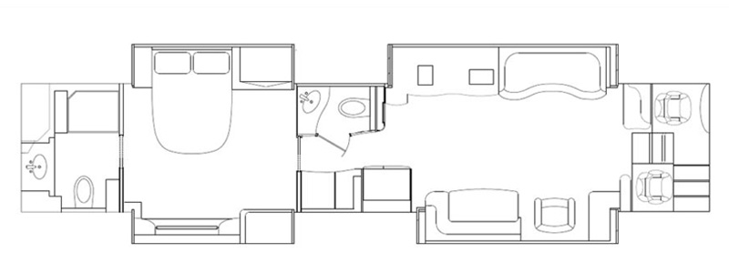 Quad Mid-Bath and a Half Floorplan