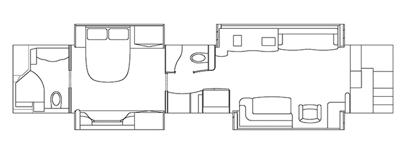 Quad Valid Slide with Rear Bath Floorplan