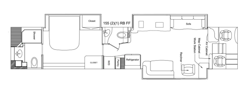 Triple Rear Bath and a Half Floorplan