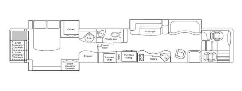 Triple Super Center Bath with J Lounge Floorplan